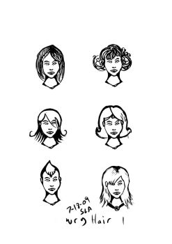 variety of hair styles by dreamling
