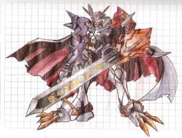 Omnimon / Omegamon [Pen] by Jeanmg