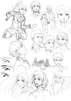 LotR and Enders Game sketchdump by rain-and-sunshine
