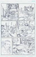 The Black Hood #8 page 14 pencils by RobertHack
