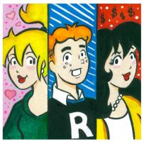 Betty, Archie and Veronica by ChibiCelina
