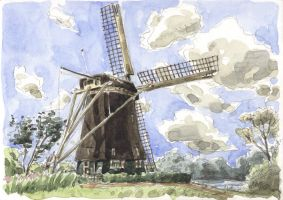 Rembrandt Mill - Holland Trip by olivier2046