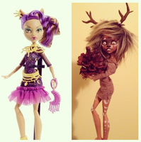 Clawdeen Monster High Mod before and after by SoulEchoe