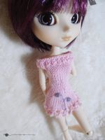 Pullip picot knit and embroidered dress by kivrin82
