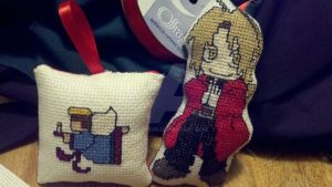 Angel and Edward Elric Christmas Ornaments by Muko-kun