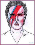 Lee Pace as David Bowie: Linear (Black marker) by Ysydora