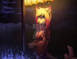 -raffle- Evening walk by Delegor-Art