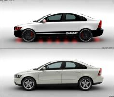 volvo s40 white by dtbsz
