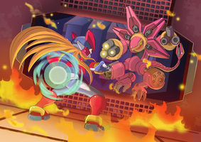 Megaman Zero 3-Blazin Flizard by ultimatemaverickx