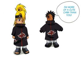 Chibis: Deidara and Tobi. by BotanofSpiritWorld