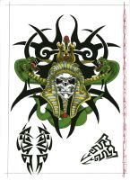 tribal 1 color by agaricgreywolf