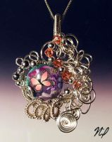 Wire Wrap Clay Bead Pendant by Create-A-Pendant