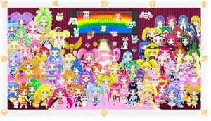 Pretty Cure All Stars Pixel Project by blknblupanther