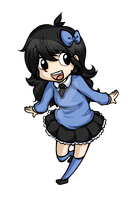 Chibi of Myself by PuccaNoodles2009