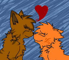 Squirrelflight and Brambleclaw by sodapoq