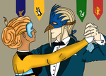 Professor Vexen and Rikku at the winter masquerade by Akatsukimad