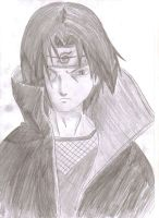 Itachi Uchiha - Tonal Drawing by ozbushido