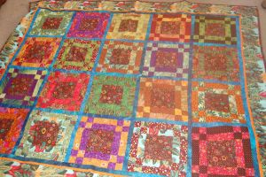 Kaffe square quilt by stringsnstuff