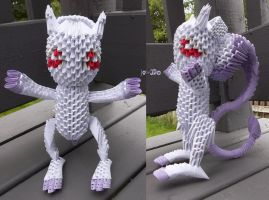 3D Origami - Mewtwo (Awakened Form) by Jobe3DO