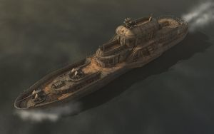 Grunge Steam Cruiser - Fin Day by eRe4s3r