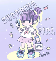 shopping girl by keitenstudio