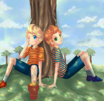Mother3: Lucas and Claus by kaiser-mony