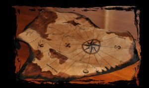 leather map pirate and steampunk by Lagueuse
