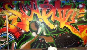 graffiti full view by chrisxart