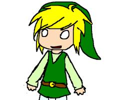 Toon Link doodle by Sparkzors