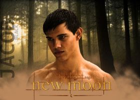 Dark Jacob New Moon Poster by carloscullen