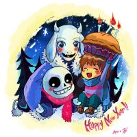 Happy New Year from UNDERTALE by PhuiJL