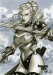 Warrior Elf DD Sketch Card by RichardCox
