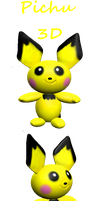 .:PICHU 3D:. by HOBYGRENOUSSE