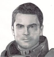 Rough pen and ink Kaidan Alenko by jagespages