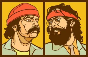 Cheech and Chong by Cloxboy