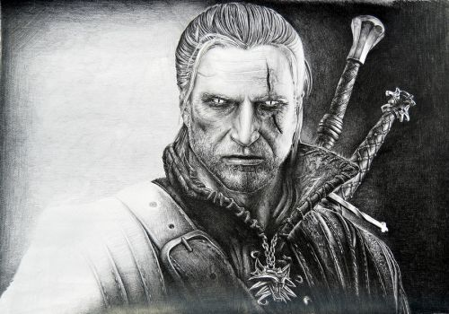 Geralt of Rivia by Lukarley