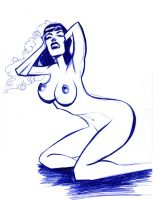 Bettie Page by Gaber