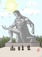 Superman statue by Kryptoniano