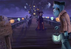 Halloween party by starryjohn