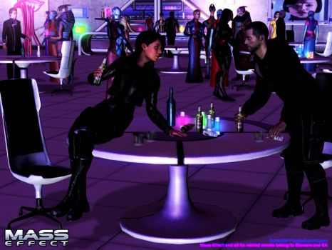Mass Effect - RandR series: Drinking Contest by Berserker79