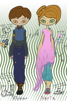 Clothing Male 0001 and Female 0001 by GreywaterAlley