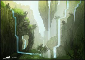 Floaty Mountains concept by Keprion