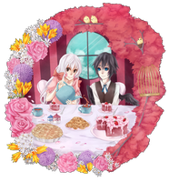Tea Time : Dolly and Amon by noizi