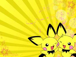 Pichu background by ochitsuki