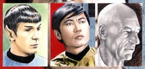 Star Trek mini-portraits by whu-wei