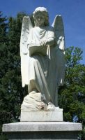 Mount Olivet Cemetery Archangel Uriel 78 by Falln-Stock