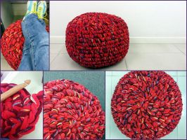 Red Pouf by byrubyru