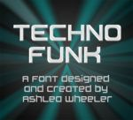 Techno Funk font by ashzstock