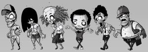 zombie line up by ElBrazo