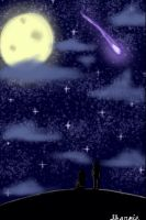 Night Sky (Background Practice) by Pastel-Horrors